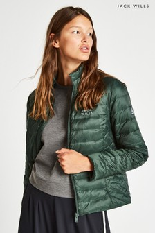 Jack Wills Dark Green Cartmell Lightweight Down Padded Jacket