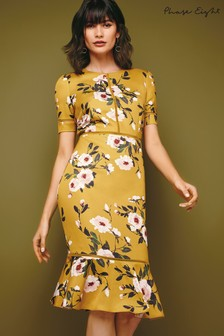 Phase Eight Chartreuse Hilary Floral Dress