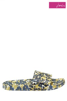 Joules Blue Poolside Printed Sliders