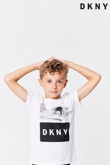 DK White Logo Tee