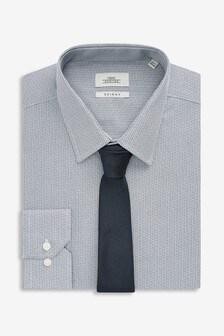 Рубашка с принтом и галстук