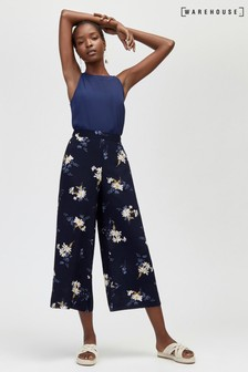 Warehouse Blue Daisy Culotte