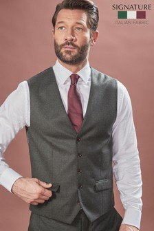 Barberis Flannel Suit: Waistcoat