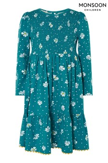 Monsoon Green Floral Dress