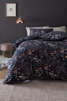 Foxglove Floral Duvet Cover and Pillowcase Set