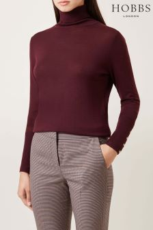Hobbs Bordeaux Lara Roll Neck Sweater