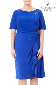 Adrianna Papell Blue Plus Matte Jersey Dress