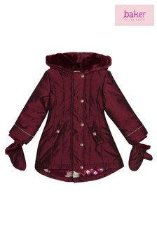 baker by Ted Baker Red Shot Parka And Mitten