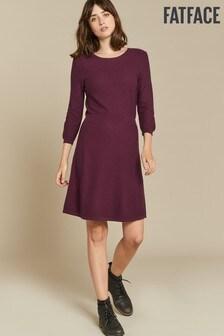 FatFace Purple Emma Knit Dress