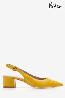 Boden Yellow Annie Pointed Slingback
