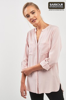 Barbour® International Pale Pink Dip Hem Blouse