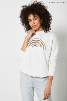 Mint Velvet Off-White Rainbow Sweatshirt