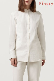 Finery White Tansy Denim Shirt