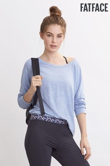 FatFace Blue Kelly Relaxed Yoga Top