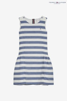 Tommy Hilfiger Girls Stripe Sleeveless Dress