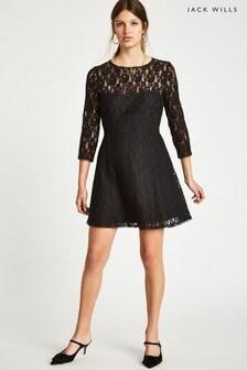 Jack Wills Black Chalkhouse Lace Dress