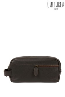 Cultured London Cove Leather Washbag