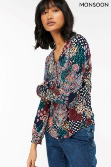 Monsoon Blue Tallulah Print Shirt