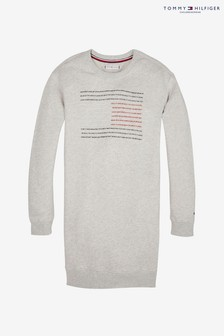 Tommy Hilfiger Girls Flag Slogan Sweatshirt Dress