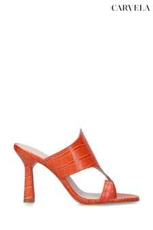 Carvela Orange Gazette Heeled Sandals