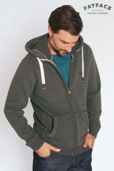 FatFace Charcoal Pembroke Marl Zip Through Hoody