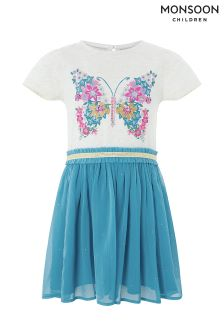 Monsoon Blue Bali Butterfly 2 In 1 Dress