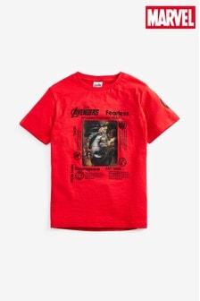 חולצת טי של Marvel® דגם Avengers Lenticular (גילאי 3 עד 16)
