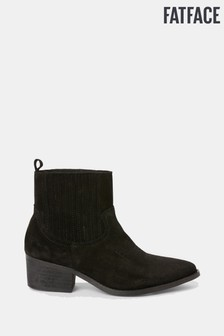 FatFace Black Norley Western Ankle Boot