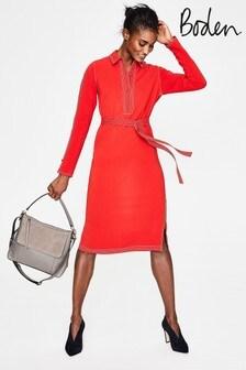 Boden Red Scarlett Shirt Dress