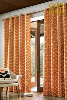 Orla Kiely Exclusive To Next Linear Stem Geo Eyelet Curtains