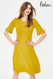 Boden Yellow Alexis Jersey Dress