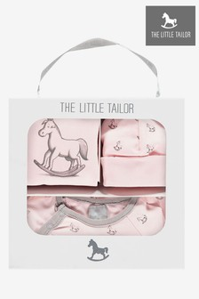 The Little Tailor Pink Baby Rocking Horse Gift Set