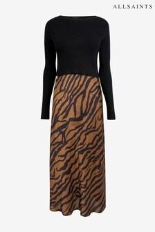 AllSaints Tiger Hera 2-In-1 Jumper Slip Dress