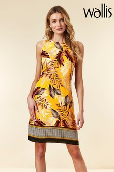 Wallis Yellow Paradise Palm Pinny Dress