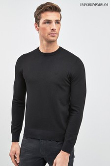 Emporio Armani Pullover, schwarz