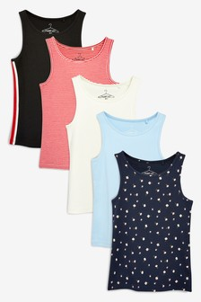 Nautical Vests Five Pack (3-16yrs)
