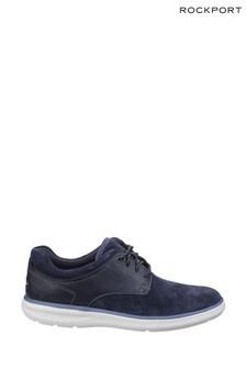 Rockport Navy Zaden Pointed Toe Blucher Shoes