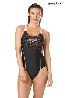 Speedo® Black Gala Medalist Swimsuit