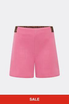 Baby Girls Beige Shorts