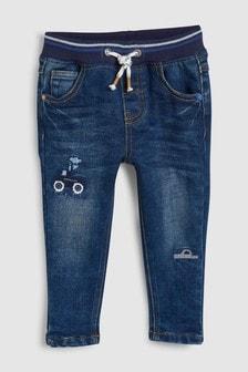 ג'ינס עם גומי במותניים מדגם Transport (3 חודשים-7 שנים)