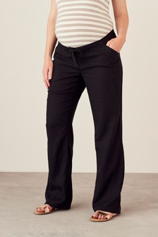 Maternity Linen Rich Blend Trousers