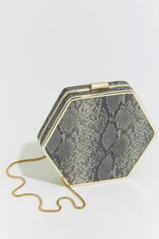Warehouse Animal Hexagon Frame Cross Body Bag