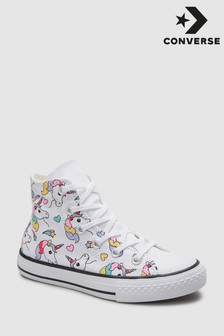 Converse White Rainbow Chuck Hi Top Trainer