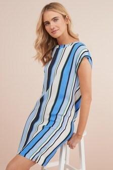 Woven Boxy T-Shirt Dress