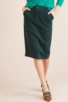 Cord Pencil Skirt