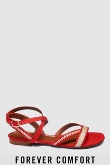 Forever Comfort Raffia Detail Sandals