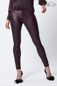 M&Co Red Coated Skinny Jeans