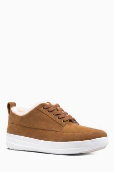 FitFlop™ Tan Shearling Gwen Low Top Sneaker