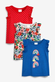 Rainbow Short Sleeve T-Shirts Three Pack (3mths-7yrs)