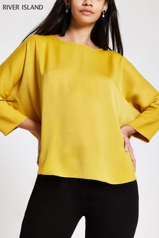 River Island Yellow Batwing Top